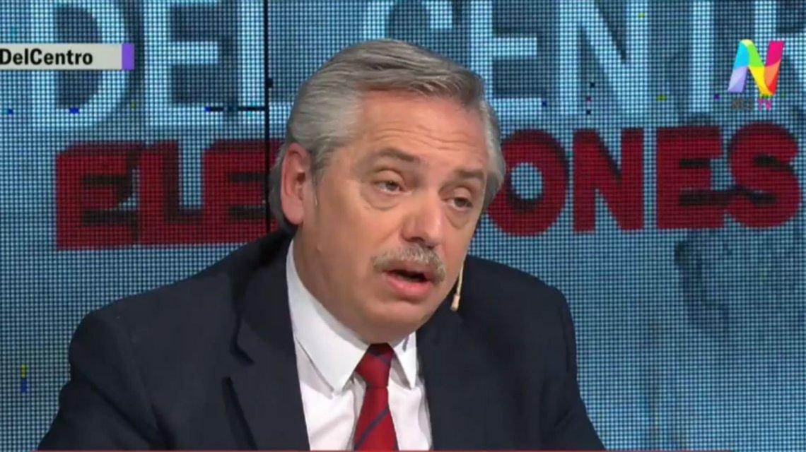 "Alberto Fernández no programa ""Corea del Centro""."