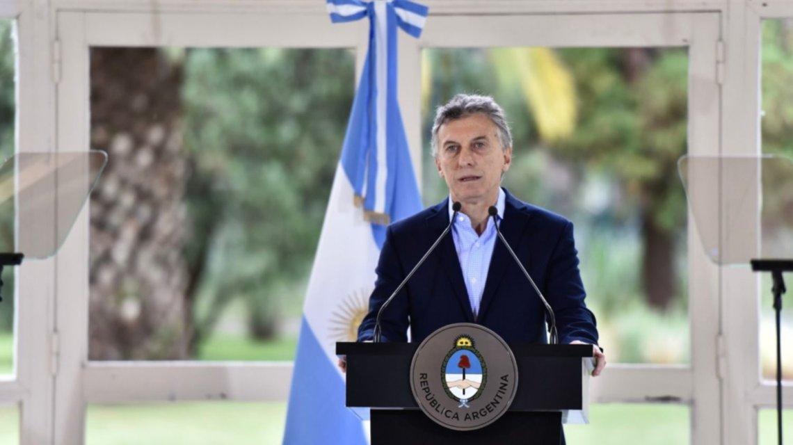 Mauricio Macri anuncia medidas econômicas.